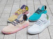 Bốn phiên bản màu mới của Pharrell x giày adidas Tennis Hu