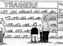 Trainers for actually playing sport in.